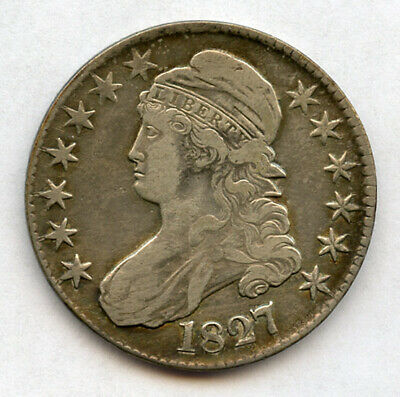 1827 Us. Capped Bust Type Half Dollar Nice Toned Choice Vf.