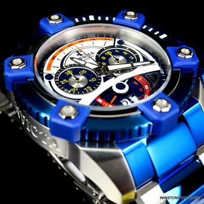 Invicta Reserve Grand Octane 63mm Two Tone Blue Steel Swiss Mvt Chrono Watch New