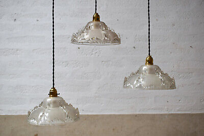 French Mid Century Vintage Pendant Light Shade
