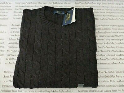 POLO RALPH LAUREN Cable Knit Jumper Mens Crew-Neck Size L-XXL Sweater BNWT R£119