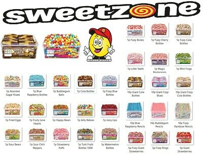 Sweetzone Jelly Tubs Varieties 100% Halal Pick N Mix Tubs Candy Sweets Haribo Uk