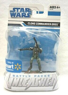 NEW Star Wars Battle Packs Unleashed Clone Commander Gree Walmart Exclusive