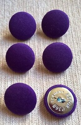 Crushed  Velvet 36L//23mm Black Upholstery Fabric Covered Buttons