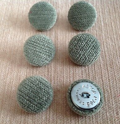 Chenille Velvet 36L//23mm Cream Upholstery Fabric Covered Buttons Craft Sewing