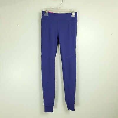 Ivivva Girls Purple Leggings Cuffed Ankles Pocket Sz 10