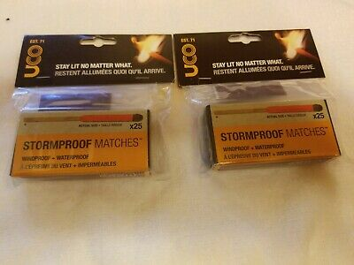UCO Stormproof Matches Twin pack emergency disaster survival NEW 50 matches