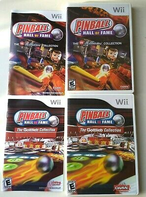 Pinball Hall of Fame: The Gottlieb + Williams Collection Nintendo Wii FREE SHIP!