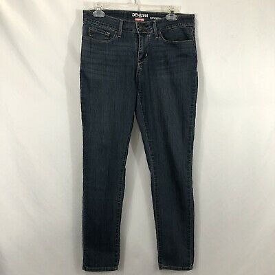 Denizen From Levis Womens Size 8 Blue Mid-Rise Modern Skinny Stretch Denim Jeans