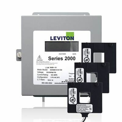 Leviton 2K480-12W Series 2000 480V 3P4W 1200A Indoor Kit with 3 Split Core CTs