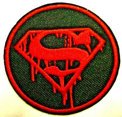"""3/"""" x 4/"""" Small Embroidered Red /& Yellow Christopher Reeve Superman Logo Patch"""