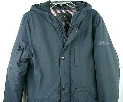 Ben Sherman Mens Gray Hooded Jacket Size Small Insulated Tactical  EDC Grey Man