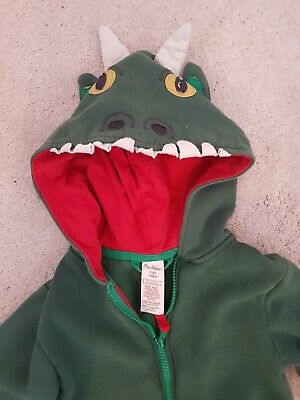 Boden Child's Dragon Onepeice hoody jumpsuit Age 7-8 Green *freepost*