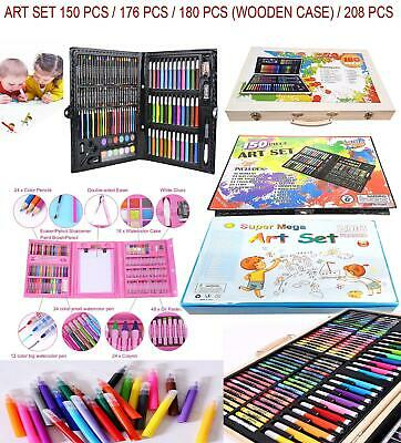 Deluxe Art Creativity Set Children Kids Crayons Painting Drawing Kit Sets
