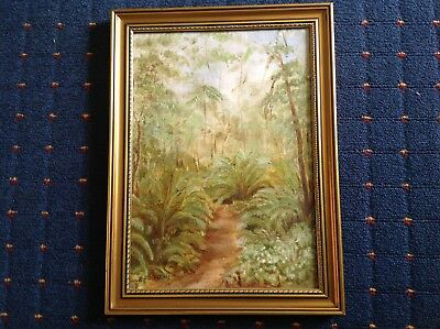 "E. Paterson 1985 Signed ""Lana Valley"" ? Framed Painting On Board."