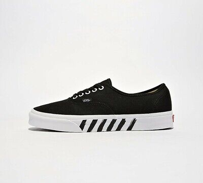 Mens Vans Authentic Stripe Black/White Trainers (SF1) RRP £50.99