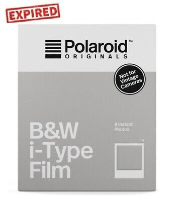 EXPIRED 2019/08 Polaroid B&W black and white Instant Film i-type US