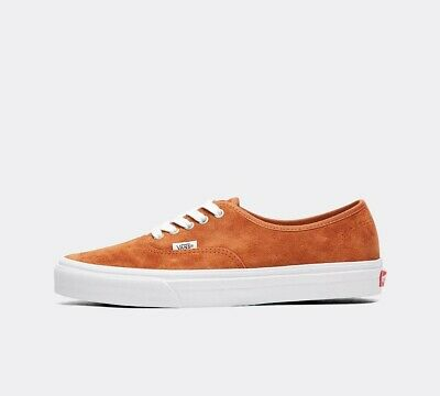 Mens Vans Authentic Pig Suede Leather Brown/True White Trainers (SF1) RRP £58.99