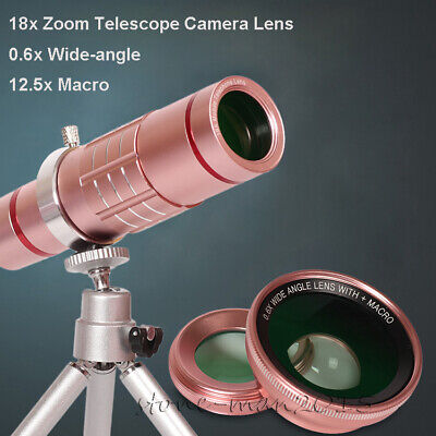 18x Telescope Phone Camera Lens+Wide Angle Macro Lens For Samsung Galaxy S10/S9