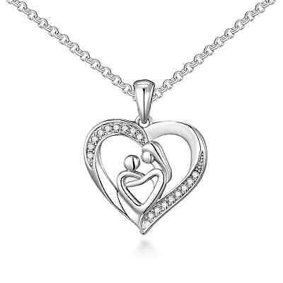Mother And Child Necklace Created with Swarovski® Crystals by Philip Jones