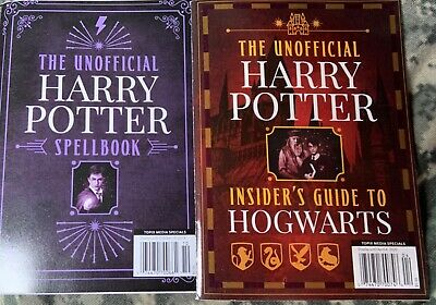 HARRY POTTER Spell Book & Inside Guide to Hogwarts  Mini Magazines Set of 2
