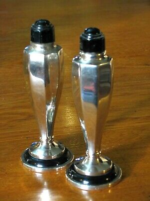 Arts and Crafts style LEWBURY Salt and Pepper shakers.