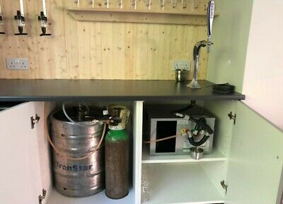 In A Cupboard Through The Bar Home Bar Beer Set Up