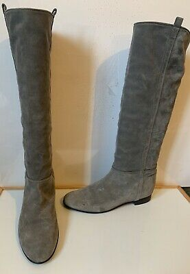 Comfy Leather Knee Boots Size UK 9 EU 42 Made In Italy