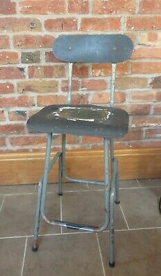 Industrial Vintage Retro Machinist Factory Chair - Stool - Seat - Office