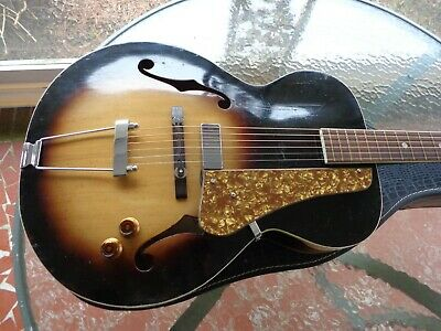 1950's Kay Archtop Guitar - Acoustic Electric - Solid Spruce Top - Fresh Setup