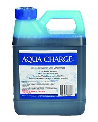 Aqua Charge Windshield Washer Concentrate - Makes 55 Gallons of Washer Fluid