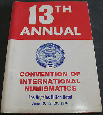 13th Annual Convention Of International Numismatics 1976 Scarce Reference