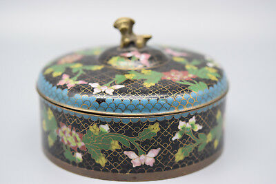 """Early 1900's Chinese Export Lidded Cloisonne Box , 3 1/2"""" T, 5 """" W,  Stock #144"""
