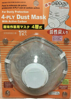 LOT 4-Ply Disposable Dust Mask Active Carbon Earloop Face Masks