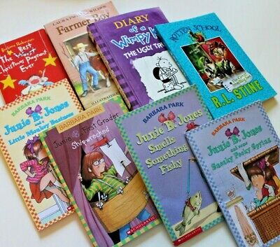 Lot of Kids Chapter Books - Elementary Reading Wimpy Kid Junie B. Jones Summer