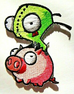 Invader Zim Animated TV Series Gir Monkey Drink Patch NEW UNUSED