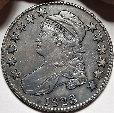1823 Capped Bust Half Dollar Extremely Fine XF EF Better Date 50c