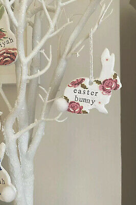 Emma Bridgewater Themed Clay Tag - Bunny - Scattered Rose - EASTER BUNNY