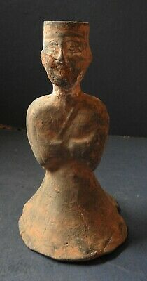 Early Chinese Pottery Figure Of An Attendant - Han Dynasty - 206 B.c.-220 A.d.