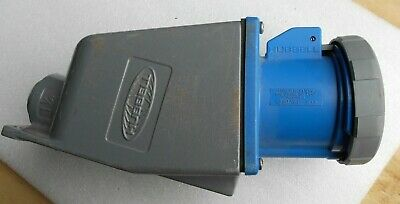 Hubbell HBL460R9W 3 phase 4 wire 60 amp 250v pin & sleeve receptacle w/ back box