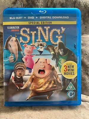 Sing Blu-Ray (2017) Garth Jennings Two Disc Version