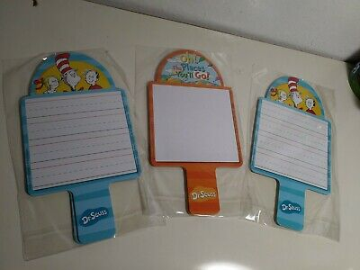Dr W// 2 Each-12 Total-New Seuss Cat In The Hat Dry Erase Paddles-6 Pkg