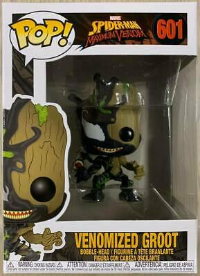 Funko Pop Marvel Spider-Man # 601 Venomized Groot Bobble-Head Figure in stock