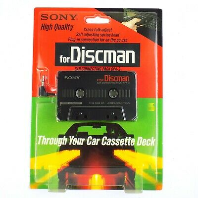 Sony Discman Cassette Deck Adapter Car Connecting Pack
