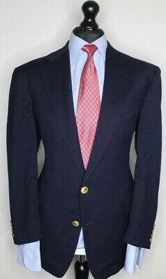 POLO by RALPH LAUREN LUXURY DESIGNER CAPTAIN JACKET PLAIN NAVY CLASSIC FIT: 41R