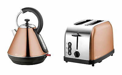 SQ Professional copper colour kettle and toaster set