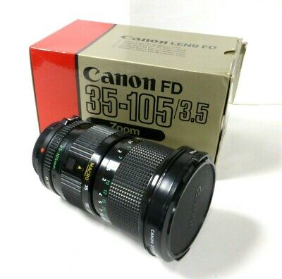 Canon 35-105mm f/3.5 FD Manual Focus  Lens fits A-1 AE-1 T90 T70 F-1 etc Boxed