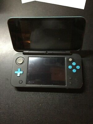 Nintendo 2DS XL Black Turquoise Handheld Console Broken Powers On Then Off
