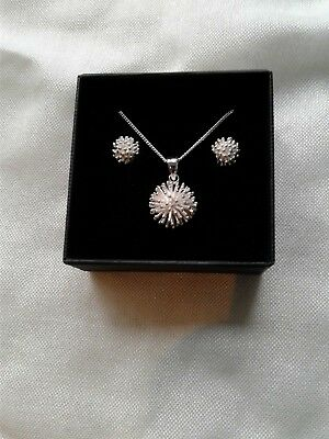 Aries Gift Sale Silver Pendant And Studs. Aries Gift Boxed
