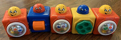 Brilliant Basic Stacking Action Block Classic Toy baby Fisher Price ABC Lot