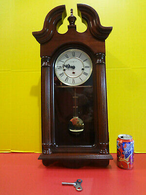 HOWARD MILLER Pendulum Clock 260-234 Cherry VGC No Chime ~FAST S/H~